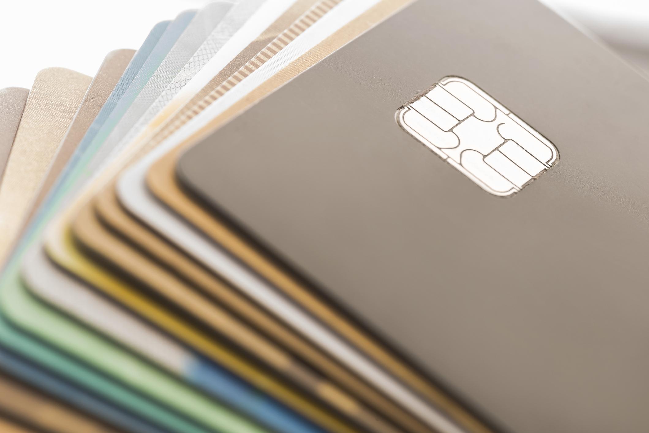 Kredi kartları, bilgisayar çizimi.