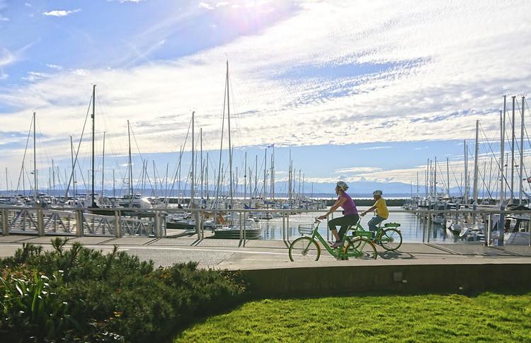 Jennifer Toole, Seattle, Washington'daki Daha İyi Bisiklet Ağları, E-bisiklet sürücüleri için Dava Açıyor. Resim © Kenneth Loen